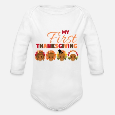 First My First Thanksgiving - Organic Long-Sleeved Baby Bodysuit