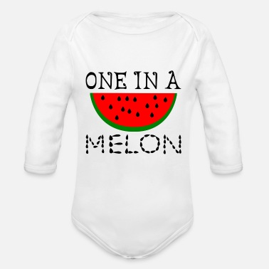 Melon One In A Melon - Organic Long-Sleeved Baby Bodysuit