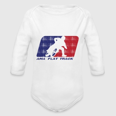 Ama Flat Track Racing - Organic Long Sleeve Baby Bodysuit