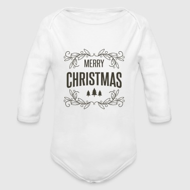 happy new year - Organic Long Sleeve Baby Bodysuit