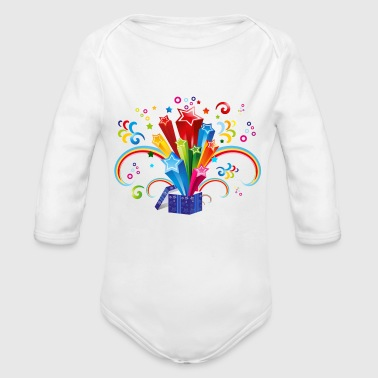 celebration - Organic Long Sleeve Baby Bodysuit