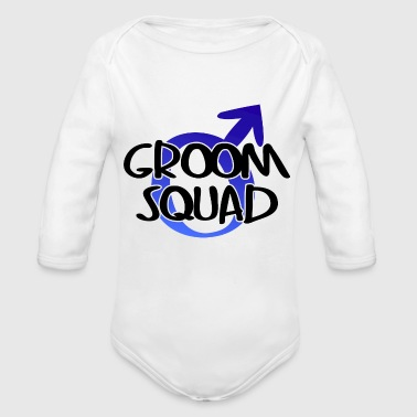 Groom Squad Wedding Party - Organic Long Sleeve Baby Bodysuit