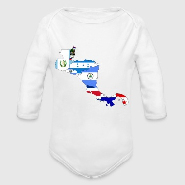 central america - Organic Long Sleeve Baby Bodysuit