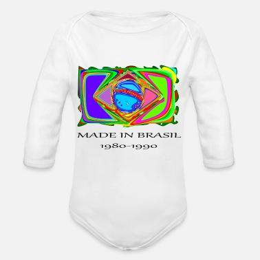 Brasil brasil , made in brasil - Organic Long-Sleeved Baby Bodysuit