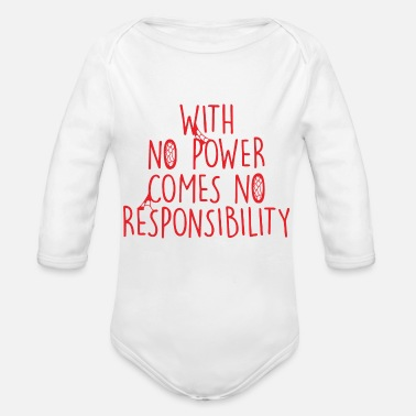 Power With No Power - Organic Long Sleeve Baby Bodysuit