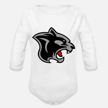 black jaguar - Organic Long-Sleeved Baby Bodysuit