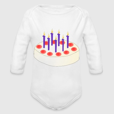 Birthday Cake - Organic Long Sleeve Baby Bodysuit