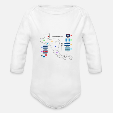 Central America central america infographic - Organic Long-Sleeved Baby Bodysuit