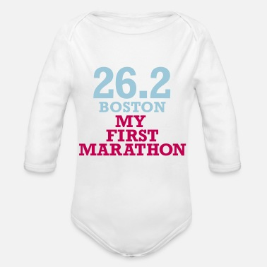 Marathon my_first_boston_marathon - Organic Long-Sleeved Baby Bodysuit