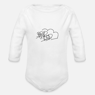Bad Mood bad mood logo 1 - Organic Long Sleeve Baby Bodysuit