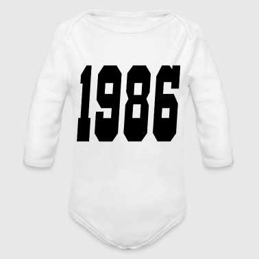 1986 - Organic Long Sleeve Baby Bodysuit