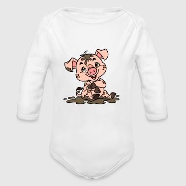Dirty sow - Organic Long Sleeve Baby Bodysuit