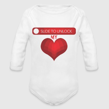 GIFT - SLIDE TO UNLOCK - Organic Long Sleeve Baby Bodysuit