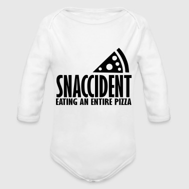 Snack pizza snack - Organic Long Sleeve Baby Bodysuit