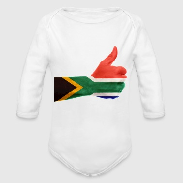 south africa - Organic Long Sleeve Baby Bodysuit