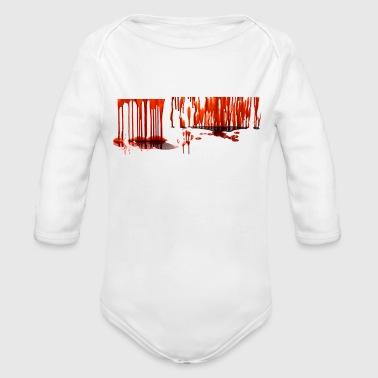Bloody Halloween sprites - Organic Long Sleeve Baby Bodysuit