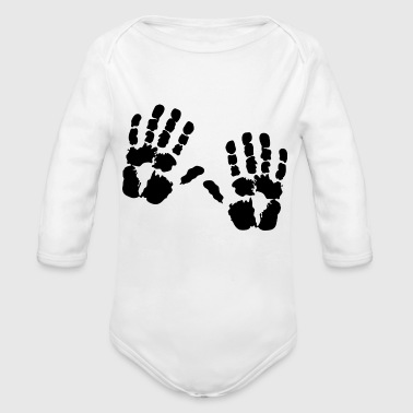 handprint - Organic Long Sleeve Baby Bodysuit