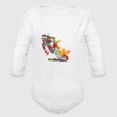 Bike Mountain Bike - Organic Long Sleeve Baby Bodysuit