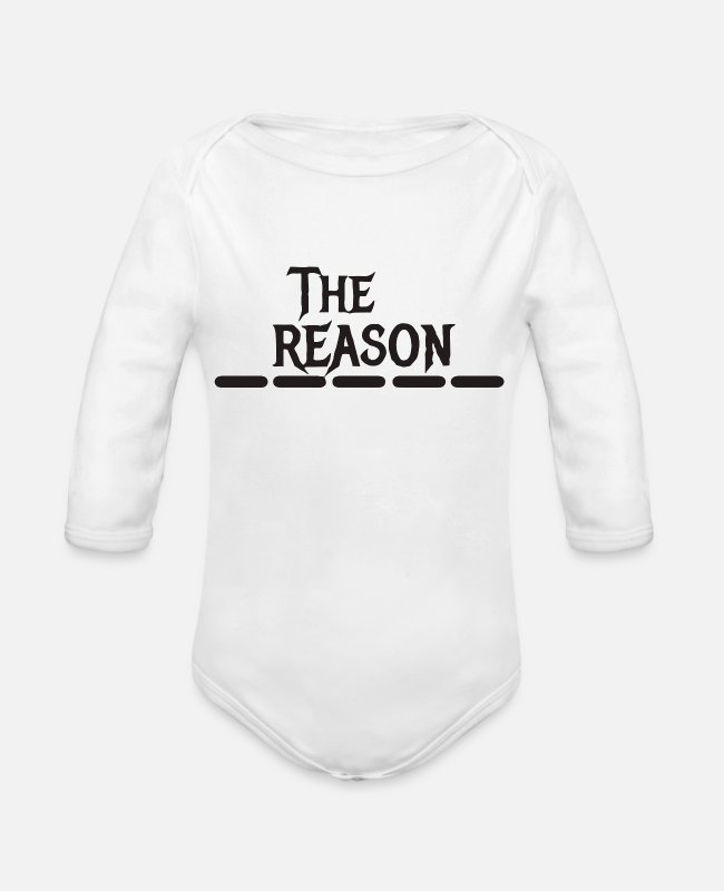Black Metal Baby One Pieces - The black reason - Organic Long-Sleeved Baby Bodysuit white