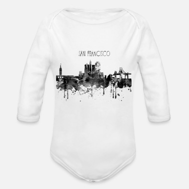 San Francisco San Francisco, San Francisco California - Organic Long-Sleeved Baby Bodysuit