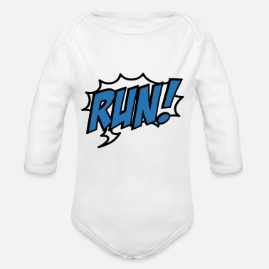Sports run - Organic Long-Sleeved Baby Bodysuit