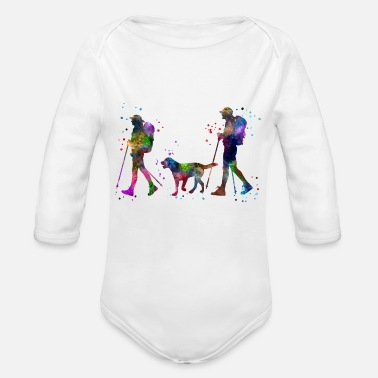 Couples Traveling as a couple, couple, couple traveling - Organic Long-Sleeved Baby Bodysuit