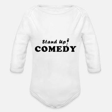Comedy Stand up comedy - Organic Long-Sleeved Baby Bodysuit
