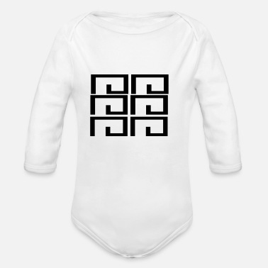 Shape shape - Organic Long-Sleeved Baby Bodysuit