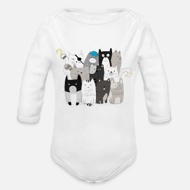 Pirates of Cats - Organic Long-Sleeved Baby Bodysuit