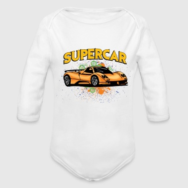 Supercar Supercar - Organic Long Sleeve Baby Bodysuit