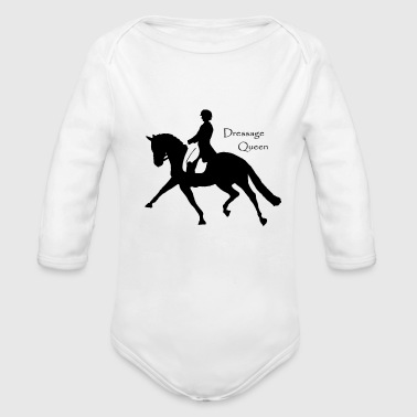 Dressage Queen - Organic Long Sleeve Baby Bodysuit
