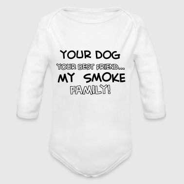 SMOKE - Organic Long Sleeve Baby Bodysuit