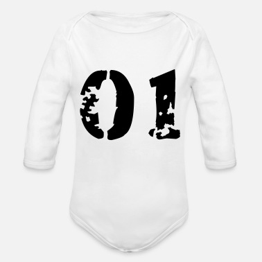 01 01 - Organic Long-Sleeved Baby Bodysuit