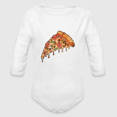 THE Supreme Pizza - Organic Long Sleeve Baby Bodysuit