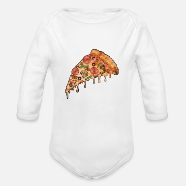 Supreme THE Supreme Pizza - Organic Long Sleeve Baby Bodysuit