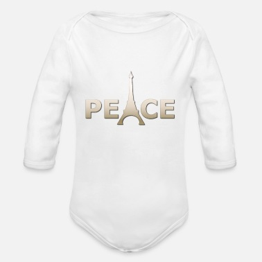 Peace For Paris Peace Pray for Paris - Organic Long-Sleeved Baby Bodysuit