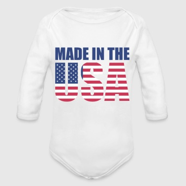 Made In Usa Made in the usa - Organic Long Sleeve Baby Bodysuit