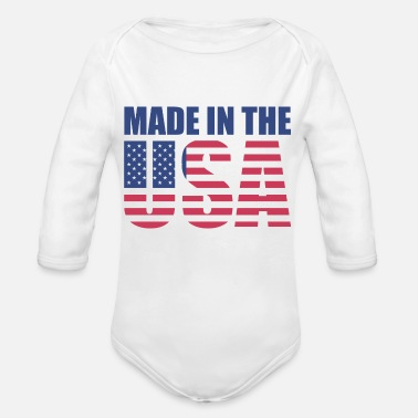 Usa Made in the usa - Organic Long Sleeve Baby Bodysuit