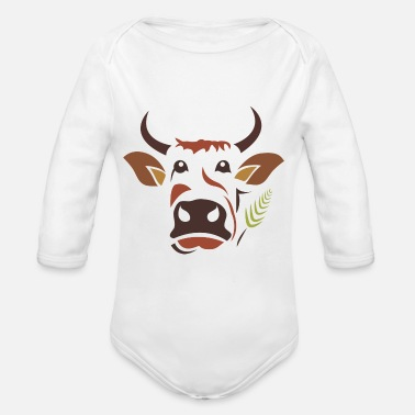 Cow Cow Cow - Organic Long Sleeve Baby Bodysuit