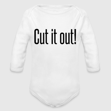 Cut it out - Organic Long Sleeve Baby Bodysuit