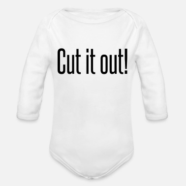 Out Cut it out - Organic Long Sleeve Baby Bodysuit
