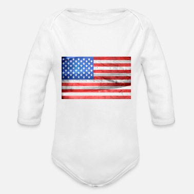 Usa Holiday Present Presentidea Idea Travel Summer - Organic Long-Sleeved Baby Bodysuit