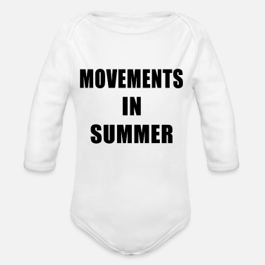 Movement Movements In Summer - Organic Long Sleeve Baby Bodysuit