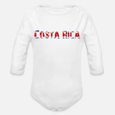 National Colours Costa Rica - National Colours - Flag - Slogan - Organic Long-Sleeved Baby Bodysuit