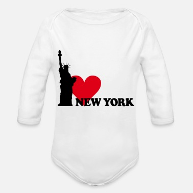 New I LOVE NEW YORK - Organic Long-Sleeved Baby Bodysuit