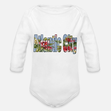Atlantic atlantic city - Organic Long-Sleeved Baby Bodysuit