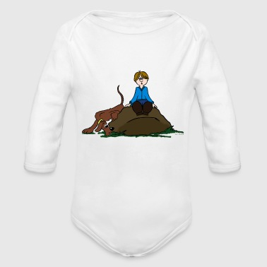 Search Dog - Organic Long Sleeve Baby Bodysuit