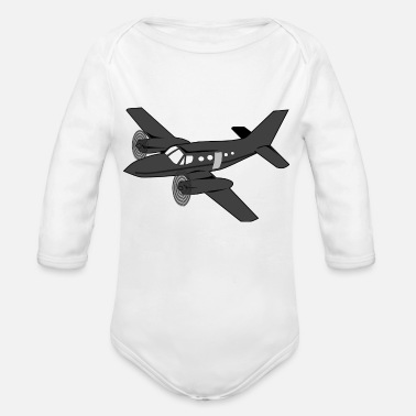 Planes plane - Organic Long-Sleeved Baby Bodysuit