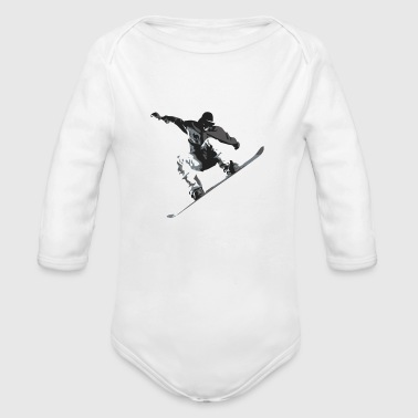 Snow Boarder - Organic Long Sleeve Baby Bodysuit