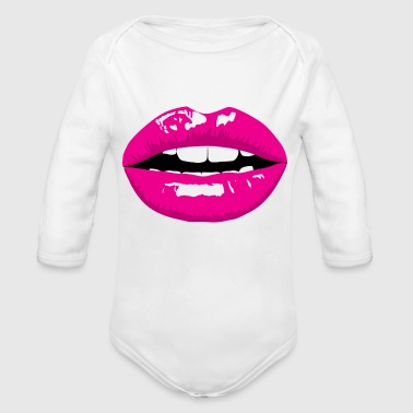 mouth - Organic Long Sleeve Baby Bodysuit